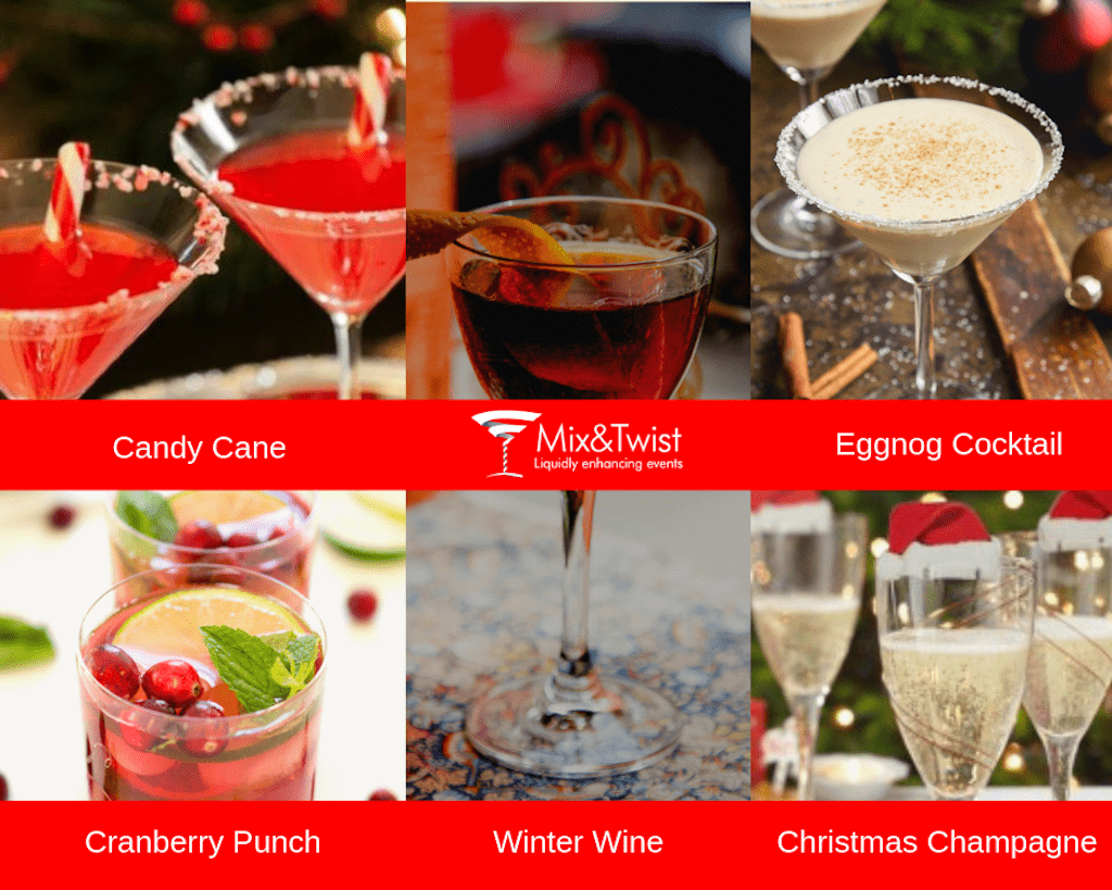 Christmas Cocktail Collage