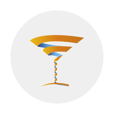 Cocktail Glass In Circle
