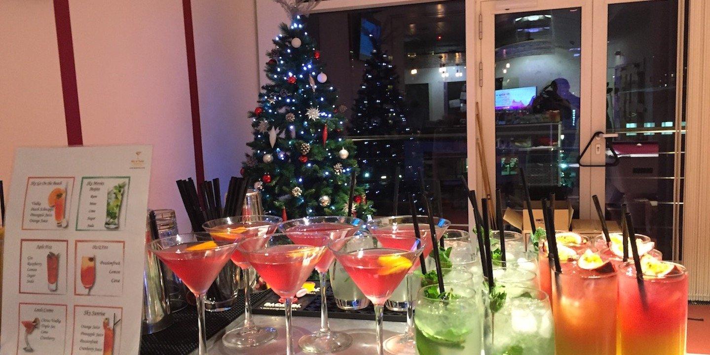 Corporate Christmas Tree and Bar