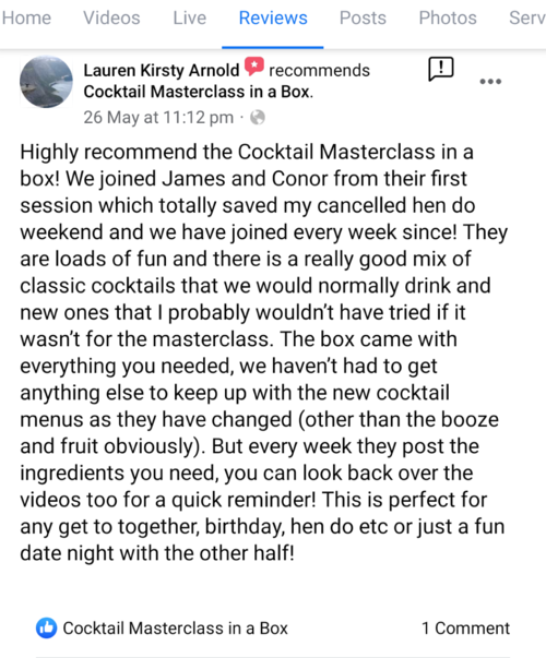 Cocktail Masterclass Online Review