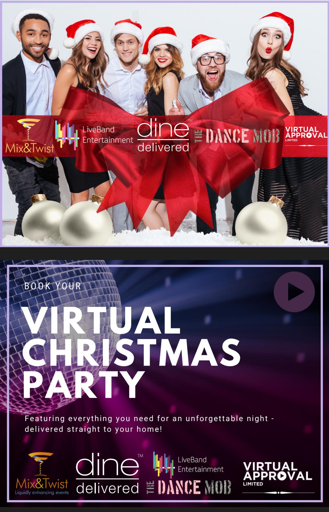 Virtual Team Christmas Party Brochure