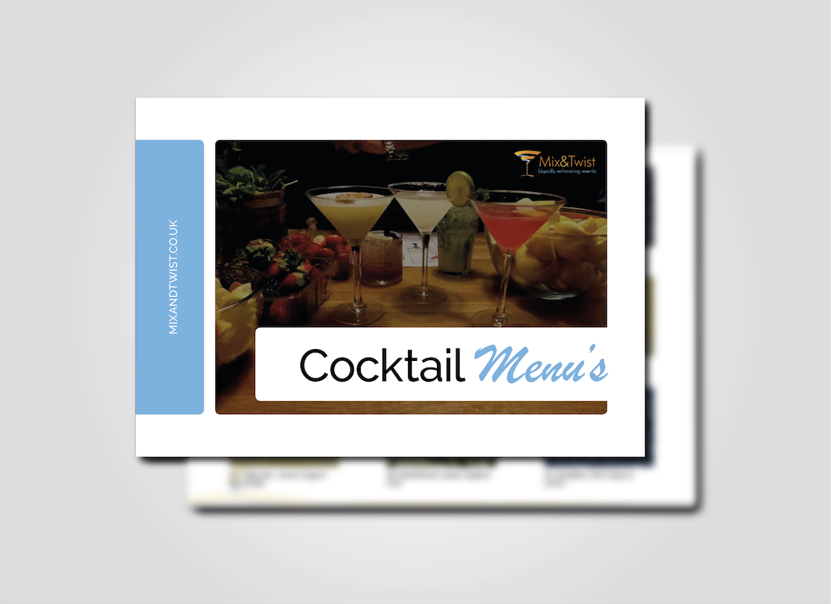 Cocktail Menu Cover