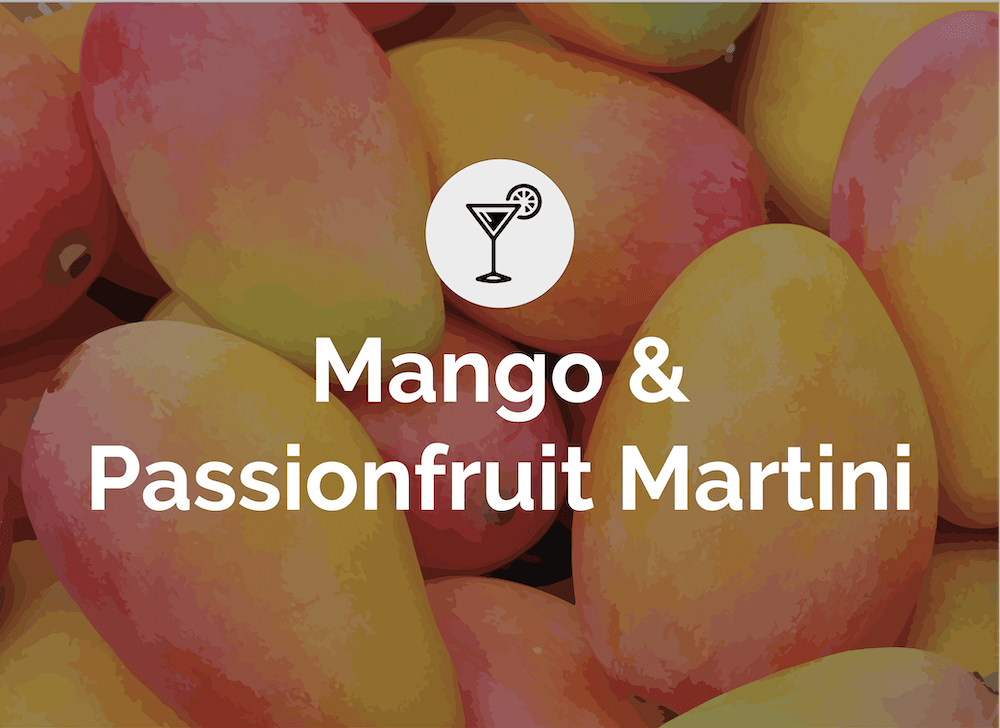 MT - Something Different Cocktails_Mango & Passionfruit Martini